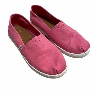 TOMS Pink Slip On Shoes Girls Size Y6